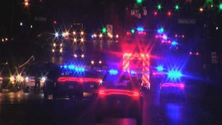 Emergency crews respond to a fatal police shooting
