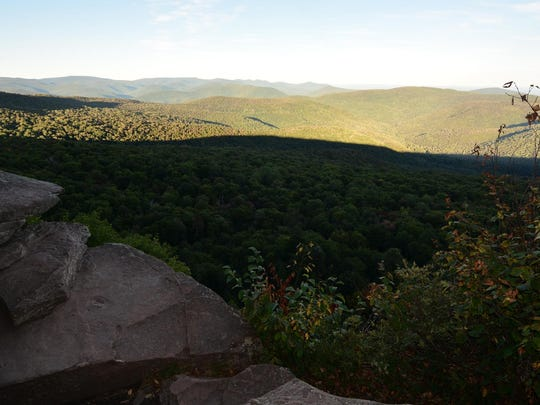 The view from the second ledge.