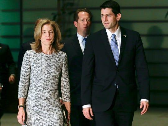 U.S. Rep. Paul Ryan, R-Wis., right, chairman of the