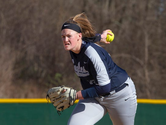 Middletown South pitcher Sophie Wilson.  Middletown