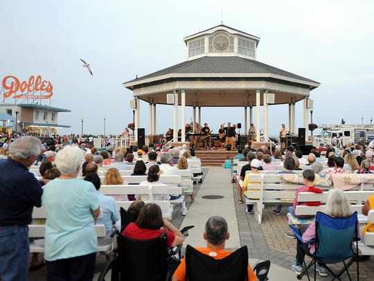 The Rehoboth Beach Bandstand will offer concerts by