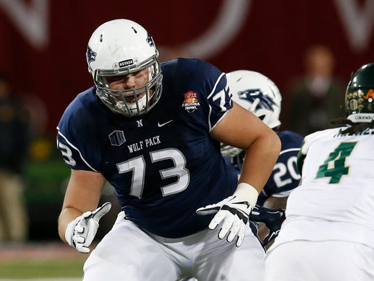 Nevada offensive lineman Austin Corbett is headed to the Cleveland Browns.