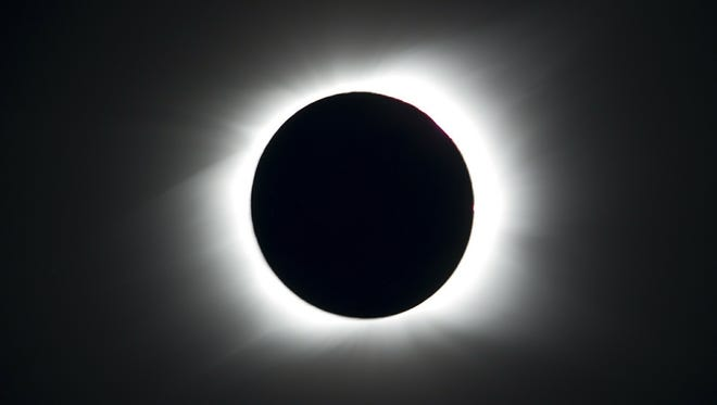 A total solar eclipse occurs when the moon gets in the way of the sun, like in this image from July 2010.
