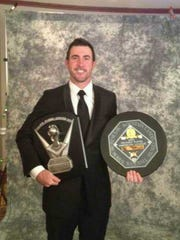 Justin Verlander was his double dose of hardware following