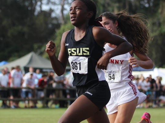 Florida High sixth grader Tonie Morgan made her debut at the FHSAA state cross country finals on Saturday at Apalachee Regional Park. The Seminoles' girls team made the state meet for the first time since 2000.