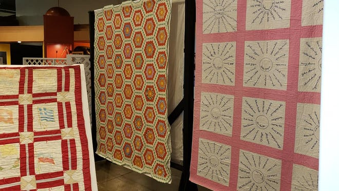Quilts on display at the Museum of Fulton County