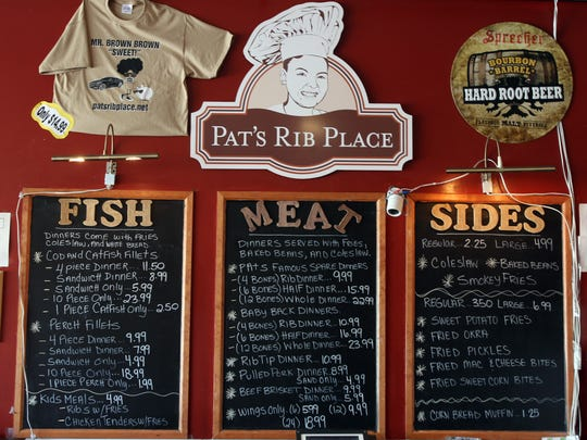 Pat's Rib Place offers a full menu of southern barbecue favorites.