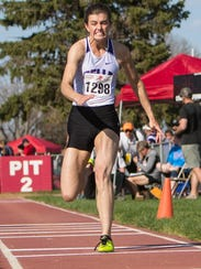 Belle Fourche senior Shayla Howell participates in the triple jump during the Howard Wood Dakota Relays.
