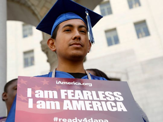 Immigrant Jose Montes attends an event on Deferred
