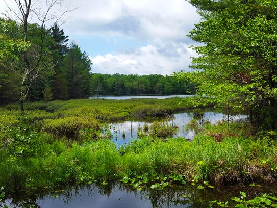 Numerous lakes line the North Country Trail through