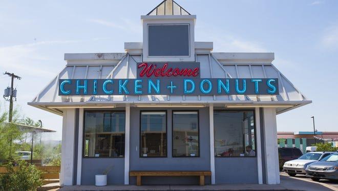 Exterior of Welcome Chicken + Donuts in Phoenix.