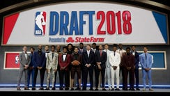 The top prospects in the 2018 NBA Draft pose together