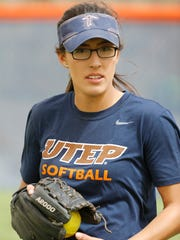 Former Hanks School athlete and current UTEP softball outfielder Ariel Blair goes through practice along with the rest of her teammates as they prepare for a Southern Mississippi in 2017.