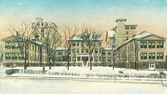 This undated images shows what was then the University of Iowa Hospital. The building, now known as Seashore Hall, is scheduled for demolition over the next five to 10 years.
