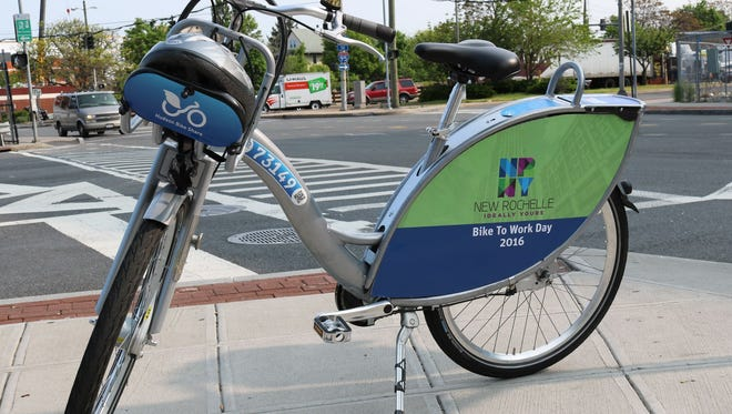 A bike model for the New Rochelle Bike Share, which is now projected to launch in spring 2017.