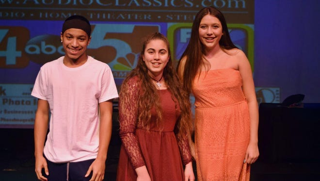 The winners of EPAC's Got Talent are, from left, Lonnie Brown, Noor Hila and Lastasya Shaw.