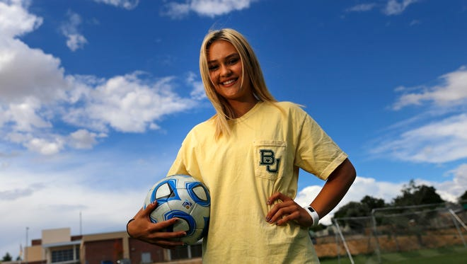 Farmington High School soccer player Arin Coleman poses for a portrait on Aug. 29 at Hermosa Middle School in Farmington.