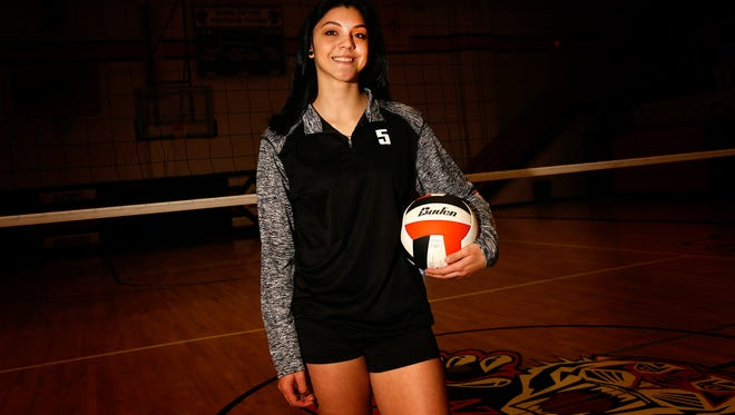 Aztec's Vanessa Chavez poses for a portrait on Nov. 7 at Lillywhite Gym in Aztec.