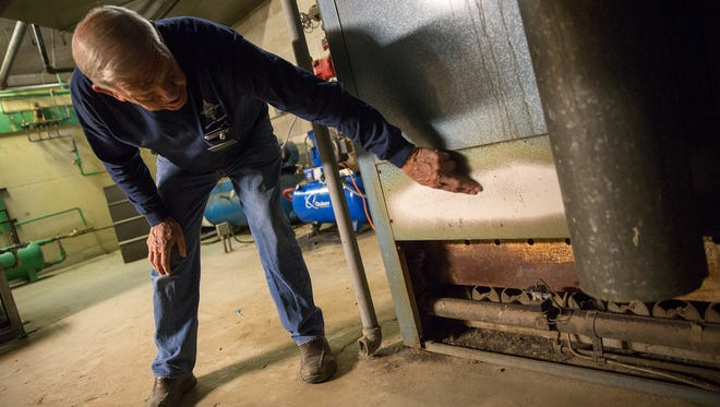 City of Farmington Building Maintenance Supervisor Jimmy Edwards on Dec. 13 talks about a 60-year old boiler system that badly needs repair or replacing at the city of Farmington's Municipal Annex Building.