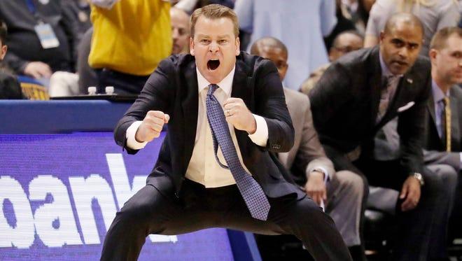 Coach Steve Wojciechowski took his first Marquette team to the NCAA Tournament last season.