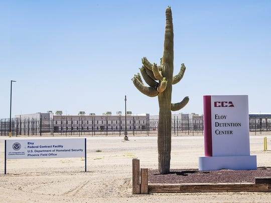 The Eloy Detention Center in Eloy is one of four such U.S. Immigration and Customs Enforcement facilities in Arizona.