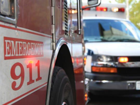 Emergency 911 ambulance firetruck