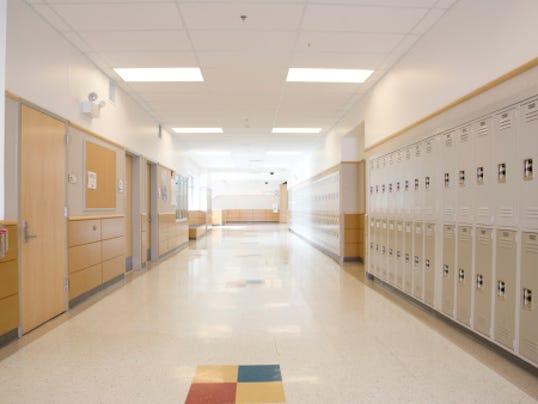 generic school hallway