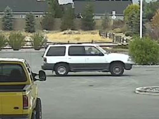 Detectives believe Angelique Zimmer, 30, of Sparks is traveling to South Carolina in a white 2000 Mercury Mountaineer.