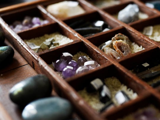 A collection of rocks and stones that will be for sale from The Meraki Collective at York Flea.