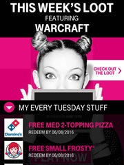 T-Mobile Tuesdays giveaways.