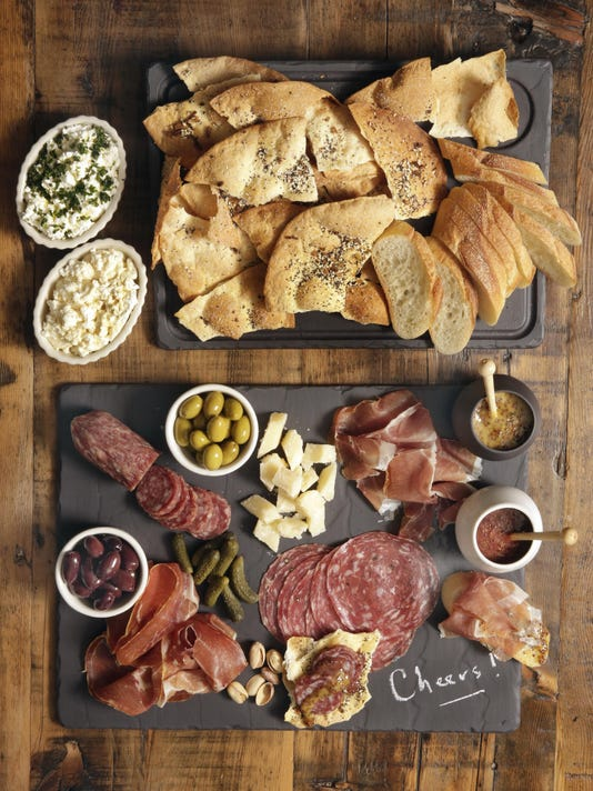 Charcuterie Platter with a Mustard Party