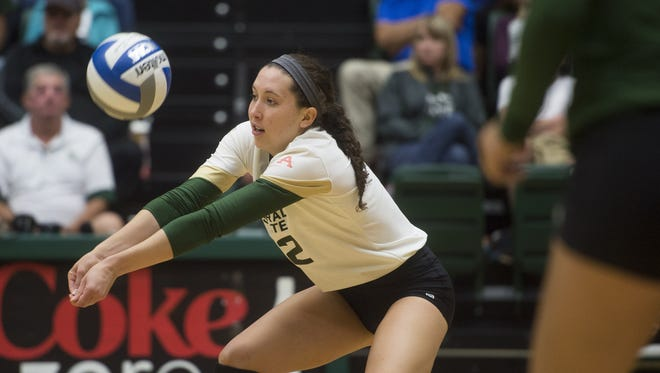 CSU setter Katie Oleksak has been named the Mountain West offensive Player of the Week.