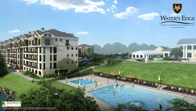 A rendering of the Water's Edge condominium development in Gallatin's Foxland Harbor. Construction is slated to begin this spring.