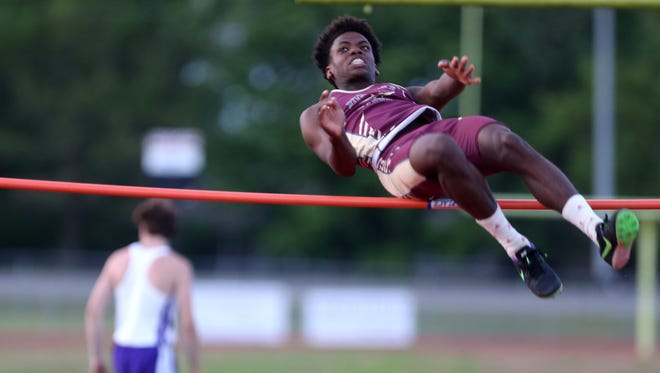 Riverdale's Ty Chesterfield cleared 6-feet-2 to win the high jump.