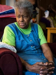 """Betty Watson, also known as """"Blind Betty,"""" sits in"""