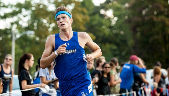 Croswell-Lexington's Max Whittredge finishes fourth during the Marysville Invitational Thursday, Oct. 6, 2016 at Marysville City Park.
