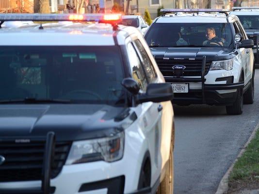 Des Moines police squad cars
