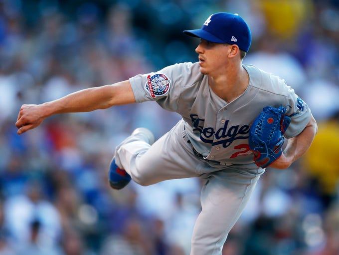 Los Angeles Dodgers starting pitcher Walker Buehler