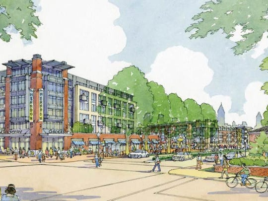This artist's rendering shows how the $150 million Atlanta housing project is to look. It's being developed by Hunt Companies of El Paso and Oakwood Development Group in Atlanta.