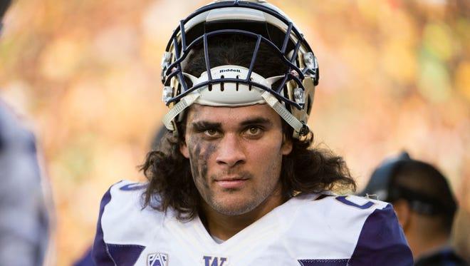 Washington Huskies linebacker Psalm Wooching.