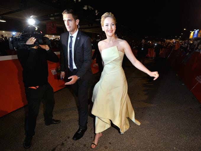 ROME, ITALY - NOVEMBER 14:  Actress Jennifer Lawrence attends the 'The Hunger Games: Catching Fire' Premiere during The 8th Rome Film Festival at Auditorium Parco Della Musica on November 14, 2013 in Rome, Italy.  (Photo by Tullio M. Puglia/Getty Images)