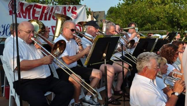 Members of America's Hometown Band will offer concerts July 13 and 20, 2017.