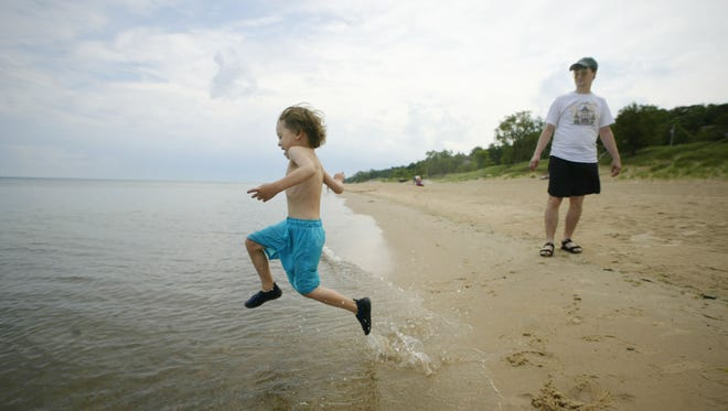 The Indiana Dunes National Seashore is a popular place to visit for families.