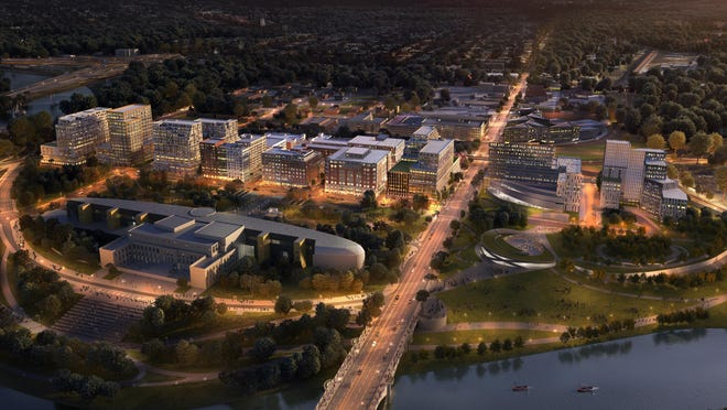 The Peninsula is designed to be a dense downtown-like development west of the Scioto River.