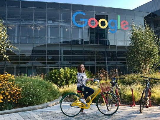 New Mexico State University honors student Elena Davidson interned at Google's global headquarters in Mountain View, California, over the summer.