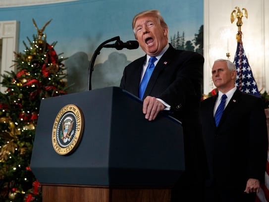 President Trump and Vice President Pence on Dec. 6,