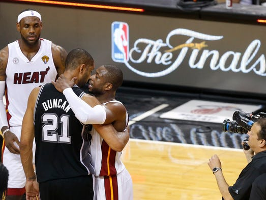 It's a rematch! The Spurs and Heat meet again in the 2014 NBA Finals after the Heat won a thrilling seven-game series last year. USA TODAY Sports' Adi Joseph takes a look at eight things that could tip the balances.