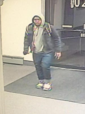 The suspect in the burglary was caught on surveillance camera.