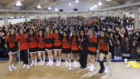 Iraan cheerleaders supported by hundreds of cheerleaders