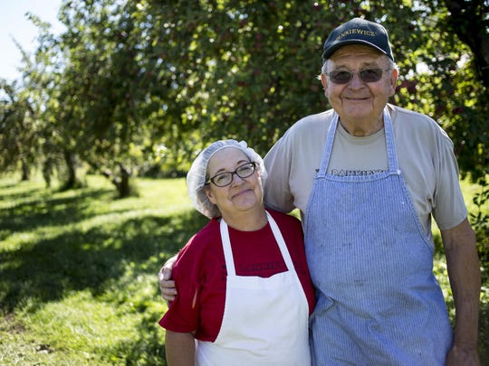 Sharon and Stan Pankiewicz pictured Friday at Pankiewicz Cider Mill, 10377 Lindsey Road in Casco Township.